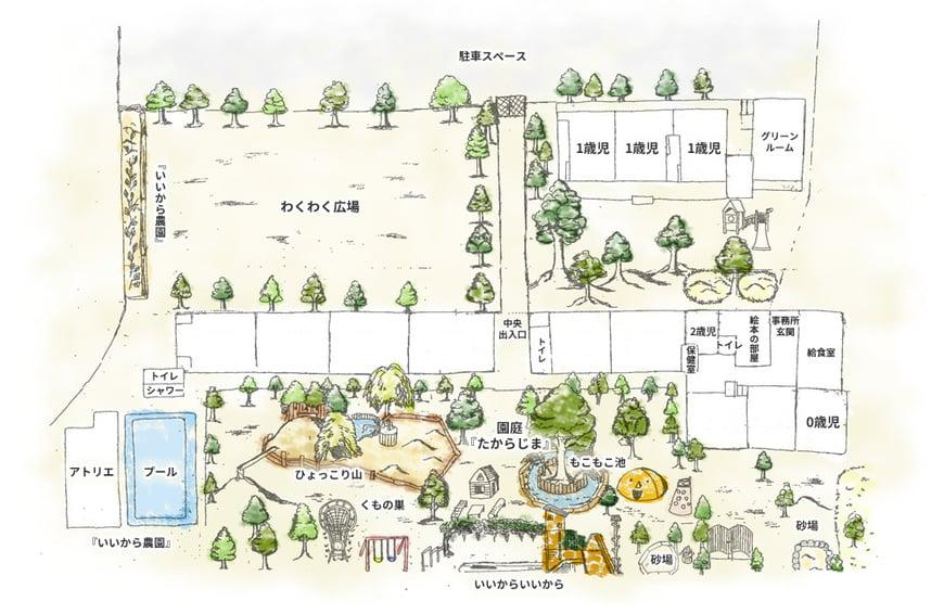 かほるこども園園内マップ